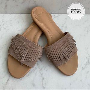 UGG Binx Fringe Thong Sandals San Size 6.5